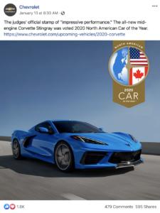 Chevrolet Facebook Post