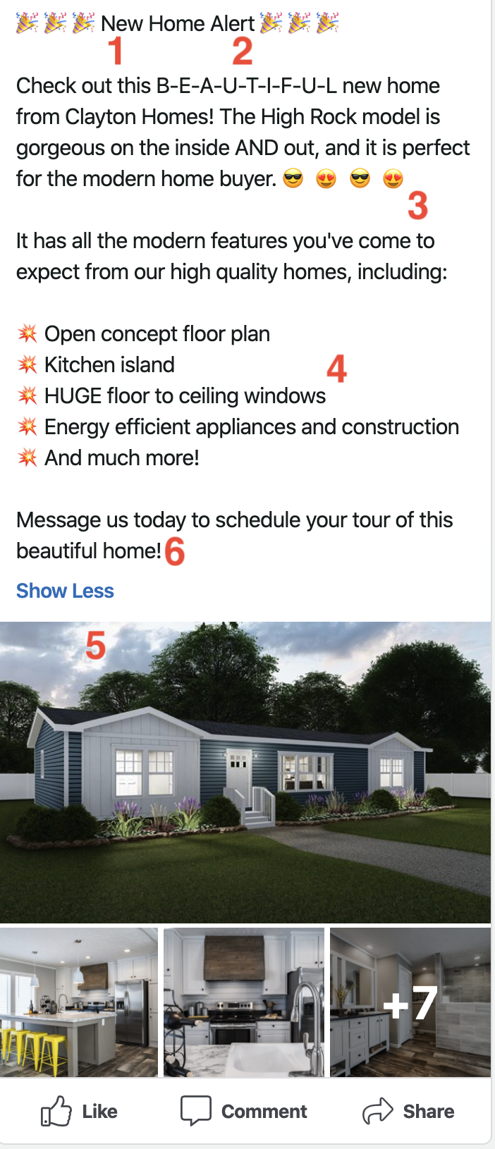 Manufactured housing Facebook post